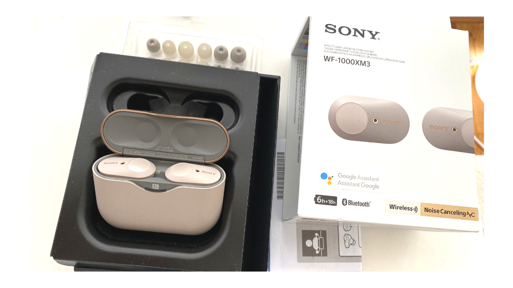 sony wf-1000xm3 earbuds review, sony wf-1000xm3, sony wf-1000, sony noise blocking earbuds, sony earbuds, sony wireless earbuds, sony noise cancelling earbuds, girl on the reviews